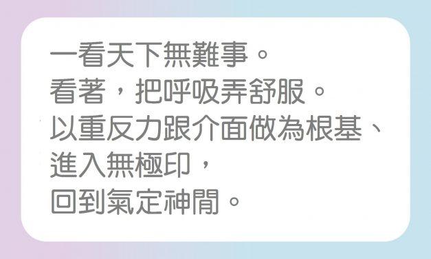 【薌教練精選音頻文章】192-2-06 「氣定神閒」啟動空性中的活性